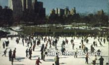 spo025861 - Wollman Memorial Skating Rink In Central Park, New York City, New York, NY USA Ice Skating Postcard Post Card Old Vintage Antique