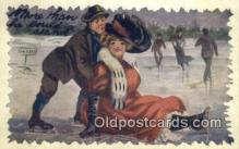 spo025864 - Winter Sports Postcard Post Card Old Vintage Antique