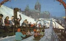 spo025876 - La Glissoire Su La Terrace Dufferin, Quebec, Canada Winter Sports Postcard Post Card Old Vintage Antique