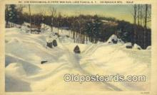 spo025879 - Linen, MT Van Hoevenberg Olympic Bob Run, Alke Placid, New York, NY USA Winter Sports Postcard Post Card Old Vintage Antique