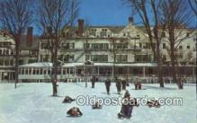spo025880 - The Northfield Hotel, East Northfield, Massachusetts, MA USA Winter Sports Postcard Post Card Old Vintage Antique