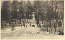 spo025883 - Toboggan Slide, Amherst, Massachusetts, MA USA Winter Sports Postcard Post Card Old Vintage Antique