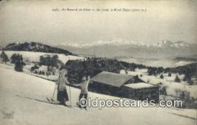 spo025917 - Au Revard, en Hiver Au fond, le Mont Blanc Postcard Post Card, Carte Postale, Cartolina Postale, Tarjets Postal,  Old Vintage Antique
