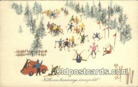 spo025921 - Kellemes Karacsonyi unnepeket  Postcard Post Card, Carte Postale, Cartolina Postale, Tarjets Postal,  Old Vintage Antique