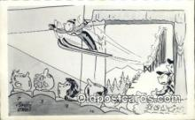spo025931 - Artist Snuffy O'Neil Ski Jumping Postcard Post Card, Carte Postale, Cartolina Postale, Tarjets Postal,  Old Vintage Antique