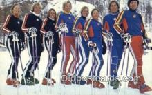 spo025935 - Yamaha Supports the US Team 1976 US Ski Team Postcard Post Card, Carte Postale, Cartolina Postale, Tarjets Postal,  Old Vintage Antique