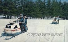 spo025956 - Snowmobiling  Postcard Post Card, Carte Postale, Cartolina Postale, Tarjets Postal,  Old Vintage Antique