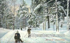 spo025960 - Norrland, Vinterlandskap Sweden Postcard Post Card, Carte Postale, Cartolina Postale, Tarjets Postal,  Old Vintage Antique