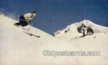 spo025964 - Skier on Mountain  Postcard Post Card, Carte Postale, Cartolina Postale, Tarjets Postal,  Old Vintage Antique