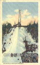 spo025969 - Ski Jumping Northern Minnesota, USA Postcard Post Card, Carte Postale, Cartolina Postale, Tarjets Postal,  Old Vintage Antique