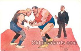 spo026014 - Wrestling Postcard Postcards