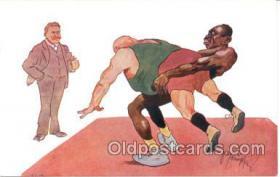 spo026015 - Wrestling Postcard Postcards