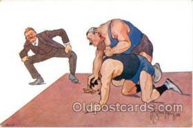 spo026017 - Wrestling Postcard Postcards