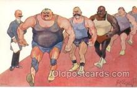 spo026018 - Wrestling Postcard Postcards