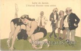 spo026021 - Artist Kristen, Wrestling Postcard Postcards