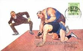 spo026027 - Wrestling Postcard Postcards