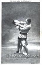 spo026040 - Chocolate Lombart Wrestling Postcard Postcards