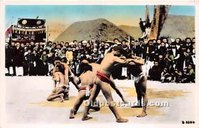 spo026114 - Old Vintage Wrestling Postcard Post Card