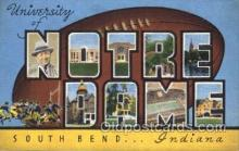 spo027035 - University of Notre Dame, South Bend, Indiana, USA Football Postcard Post Cards Old Vintage Antique
