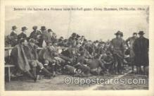 spo027037 - Football Game, Camp Sherman, Chillicothe, Ohio, USA Football Postcard Post Cards Old Vintage Antique