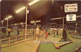 spo028069 - Old Vintage Miniature Golf Postcard Post Card