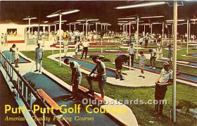 spo028071 - Old Vintage Miniature Golf Postcard Post Card