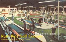 spo028073 - Old Vintage Miniature Golf Postcard Post Card