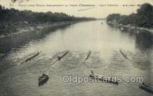 spo029044 - Retoir Dune course Internationale au Bassin d Asnieves Rowing Team Old Vintage Antique Postcard Post Cards