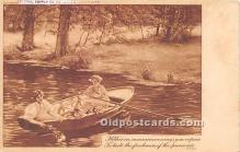 spo029059 - Old Vintage Rowing Postcard Post Card