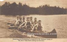 Canoeing and Swimming is required at the Summer Camp of The New York State College of Forestry