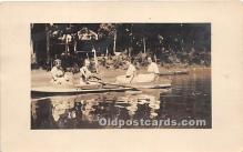 spo029065 - Old Vintage Rowing Postcard Post Card