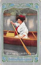 spo029071 - Old Vintage Rowing Postcard Post Card