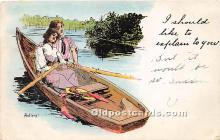 spo029073 - Old Vintage Rowing Postcard Post Card