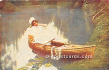 spo029077 - Old Vintage Rowing Postcard Post Card