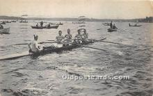 spo029082 - Old Vintage Rowing Postcard Post Card