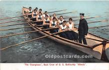 spo029089 - Old Vintage Rowing Postcard Post Card