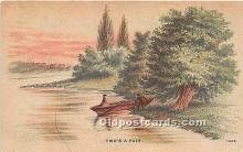 spo029090 - Old Vintage Rowing Postcard Post Card