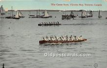 spo029093 - Old Vintage Rowing Postcard Post Card