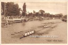 spo029104 - Old Vintage Rowing Postcard Post Card