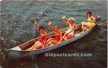 Summer Fun, Girls Canoeing