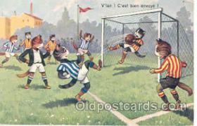 spo030002 - Cat, Cats, Soccer, Football, Postcard Postcards
