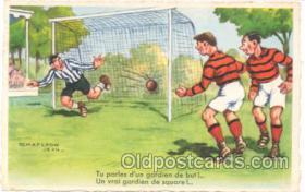 spo030023 - Artist Chaperon Jean, Soccer, Football, Postcard Postcards