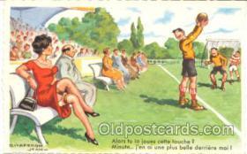 spo030034 - Artist Chaperon Jean, Soccer, Football, Postcard Postcards