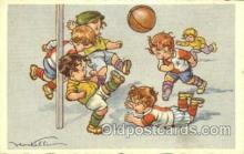 spo030112 - Soccer Postcard Post Card Old Vintage Antique