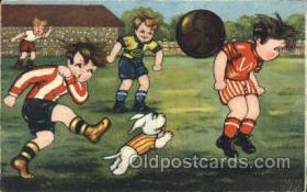 spo030113 - Soccer Postcard Post Card Old Vintage Antique