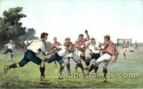 spo030114 - Soccer Postcard Post Card Old Vintage Antique