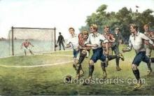 spo030115 - Soccer Postcard Post Card Old Vintage Antique