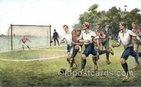 spo030115 - Soccer Postcard Post Card Old Vintage Antique
