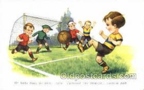 spo030116 - Soccer Postcard Post Card Old Vintage Antique