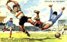 spo030120 - Regles du Football Soccer Postcard Post Card Old Vintage Antique